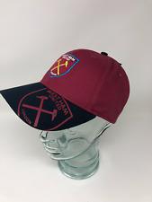 West Ham United Football Club Burgundy Baseball Crest Cap Hat Club Hammers Irons