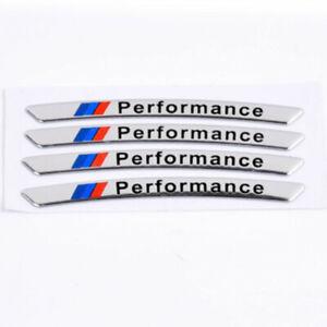 4PCS Aluminum Car wheel rims racing sticker Performance decal for BMW E30 E46