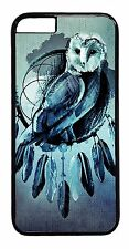 New Owl Dreamcatcher Art Design Rubber/Hard Case Cover For Apple iPhone Models