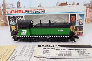 Lionel O Gauge No.8374 Burlington SW-1 Diesel Switcher Engine With Box No.6-8374