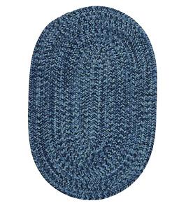 Nantucket tweed braided area rug 4x6 oval