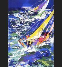 LeRoy Neiman HAND SIGNED Serigraph - HIGH SEAS SAILING II - silkscreen art RARE
