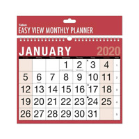2020 Calendar Calender easy Month To View Red & Black Planner Wall Office New
