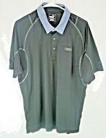Puma Mens Climacool Black Short Sleeve Audi Logo Golf Polo Shirt Size Large