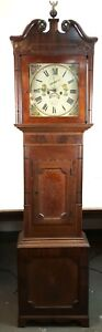 GRANDFATHER CLOCK. MAHOGANY AND OAK. JOHN CALCOTT. ENGLAND. 18TH-19TH CENTURY.