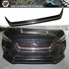 Front Grille Garnish Trim Cover Dry Carbon Fits Fiber Subaru WRX STI  2015 2016