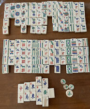vintage Mahjong game Tiles Wood Bamboo Crafts Extra Replacements Big lot