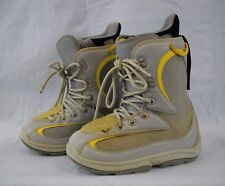Women's BURTON Foundation Snowboard Boots GRAY/YELLOW Size 7 USED Good Condition