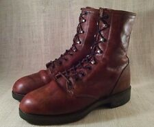 Distressed Brown Leather Durango Lace Up Western Roper Boots Size 7 EE