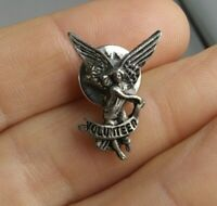 Vintage Volunteer Guardian Angel pin pinback button *QQ5