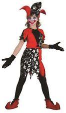 Girls Halloween Costume 4 5 6 years Court Jester Medieval Clown Fancy Dress