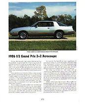 1986 Pontiac Grand Prix 2+2 Aerocoupe Article - Must See !!