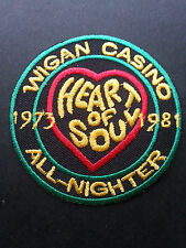 NORTHERN SOUL MUSIC SEW ON / IRON ON PATCH:- WIGAN CASINO (d) 1973-1981 GREEN