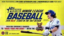 2016 Topps Heritage Minor League Baseball Hobby Box - Factory Sealed! RookiesHQ