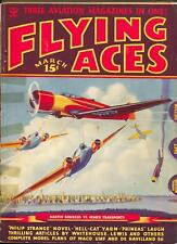 Flying Aces 2/1935-Philp Strange-hero pulp-Donald E Keyhoe-TW Ford-VG