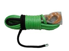 "1/2""*100ft green synthetic winch rope,winch cable with thimble sheath and hook"