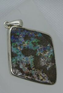 Boulder Opal & 925 Silver pendant 21g