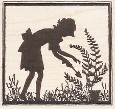 Let's Garden Silhouette  HERO ARTS RUBBER STAMPS ~ w/m Free Shipping  NEW