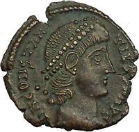 CONSTANTIUS II Constantine the Great son Roman Coin Wreath of success i34833