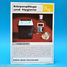 bebo-sher Universal Rasierer DDR 1971 | Prospekt Werbung Werbeblatt DEWAG S5 C