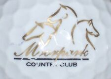 (1) Moorpark Country Club Golf Course Logo Golf Ball (gold)(California)