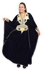 Plus size Caftan Moroccan Handmade Kaftan Women Beach Summer Dress Abaya Black