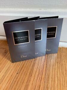 Lot X3 Dior Homne Eau For Men Men EDT Travel Sample 1ml each. New