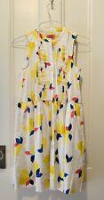 Women's Kate Spade Lemon Zest Sleeveless Shirtdress White Yellow Pink Blue M