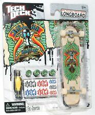 TECH DECK LONGBOARD Fingerboard SKATEBOARD SOS w STICKERS A NEW