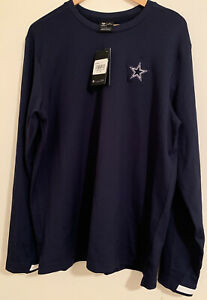 Dallas Cowboys Nike On-Field Dri-Fit Long Sleeve Shirt Blue Size Large NWT