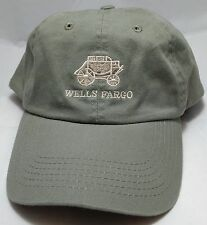 WELLS FARGO BANK hat cap green adjustable strapback stagecoach