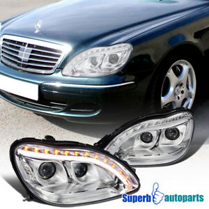 For 1998-2006 Mercedes Benz W220 S-Class Projector LED Signal Headlights