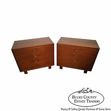 George Nelson for Herman Miller Mid Century Walnut Pair of 4 Drawer Chests