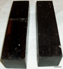 2 Gabon Ebony Lumber 1.5x6 Ebony Wood Knife Tool Handles Duck Calls Pool Cues
