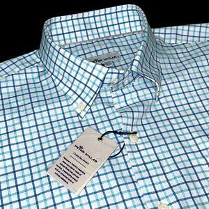 Peter Millar Crown Ease Performance Stretch Cotton Everett Sport Shirt L $138