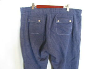 Juicy Couture Denim Blue Snap Back Pockets Drawstring Cuffed Lounge Pants   XL