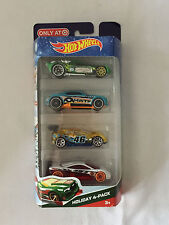 2014 Hot Wheels HOLIDAY 4-PACK Set - Mint in box - Target Exclusive