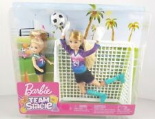 New Barbie Team Stacie Soccer Player Set Chelsea & Jointed Legs Stacie Doll Rare