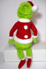 "Hallmark Collectible 1999 Dr Seuss 21"" Grinch Plush in Santa Suit"