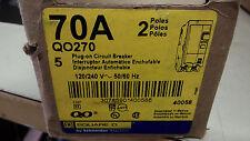SQUARE D QO270 NEW IN BOX 2P 70A 240V BREAKER SEE PICS #A86
