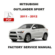 MITSUBISHI 2011 - 2012 OUTLANDER SPORT ENGINE BRAKE TRANSMISSION REPAIR MANUAL