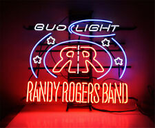 "New Bud Light Randy Rogers Band Neon Light Sign 24""x20"" Lamp Poster Real Glass"