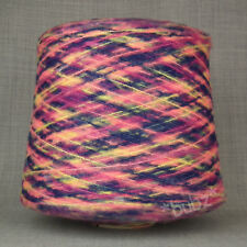 SUPER SOFT SPACE DYED YARN 400g CONE 8 BALLS PINK PURPLE MOHAIR FEEL KNITTING