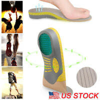 For Plantar Fasciitis Orthotic Shoe Insoles Inserts Flat Feet High Arch Support