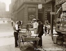 Clam Vendor in Mulberry Bend, New York City - c1900 -  Historic Photo Print