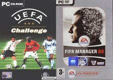 uefa challenge  &  fifa manager 08    new&sealed