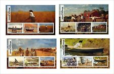 2017 BLAKE HOGARTH MERRITT CHASE WINSLOW HOMER 12  ART PAINTINGS  UNPERFORATED