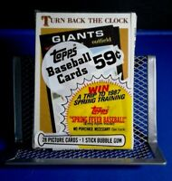 Sealed Topps Baseball 1986 Cello Pack - Turn Back the Clock Willie Mays