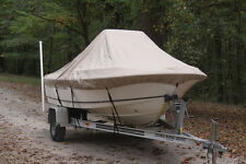 """NEW VORTEX TAN/BEIGE 16'6"""" CENTER CONSOLE BOAT COVER, FOR UP TO 54"""" TALL CONSOLE"""