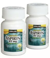 2X 365 Kirkland Low Dose Aspirin 81mg Enteric Coated NSAID Pain Reliever tablets
